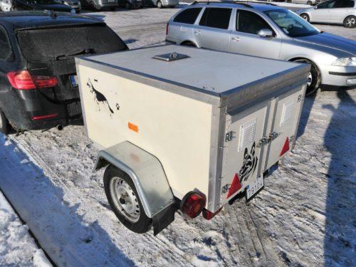 Privesny vozik pre psy - box pre 3 psy - Berger